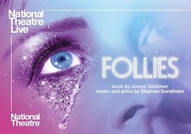 Pink and blue poster: Follies