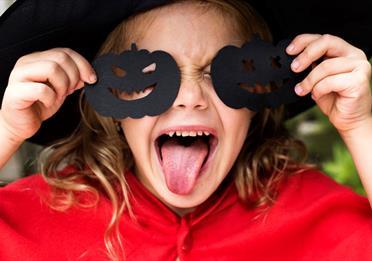 Girl with Halloween costume