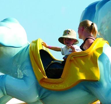 Children on a fairground ride