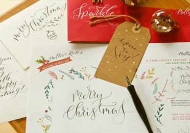 Christmas Calligraphy Workshop with Mellor & Rose