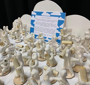 White clay figurines