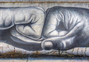Wall mural: fist bump
