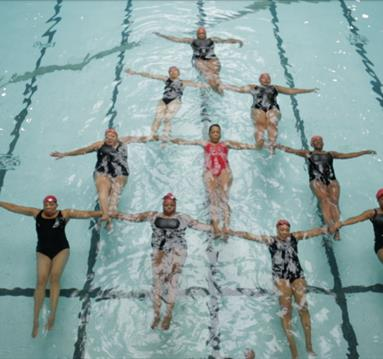 Women in a swimming pool