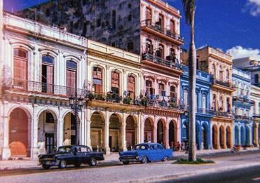 Cuban street, polaroid image