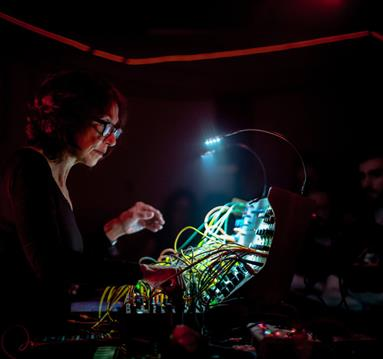 Suzanne Ciani during a concert