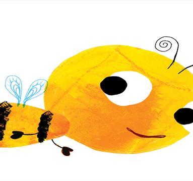 Yellow bee drawing