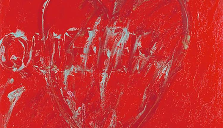 Painting: red heart