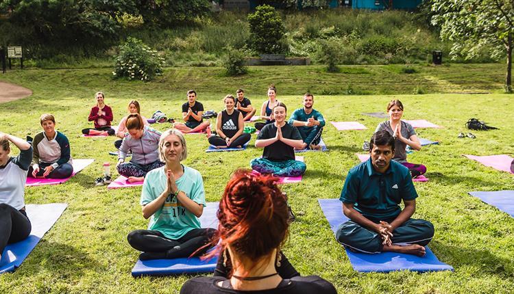 Flower Power Yoga at Angel Meadow Park