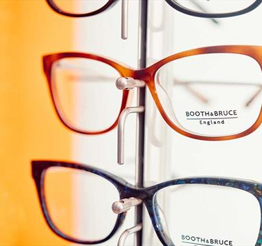 Designer glasses.