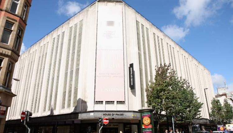 The front of House of Fraser