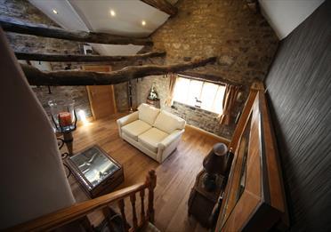 Private lounge area in suite