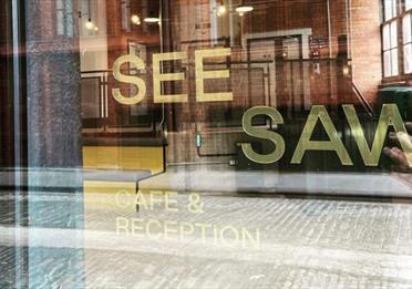 SEESAW Logo on window