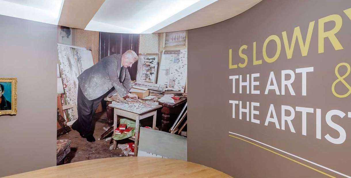 LS Lowry: The Art & The Artist exhibition entrance