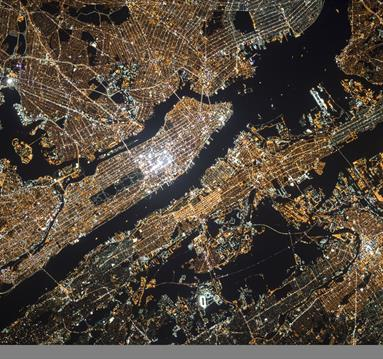 City light from above