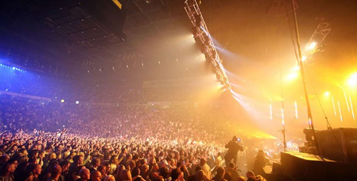 AO Arena during the gig