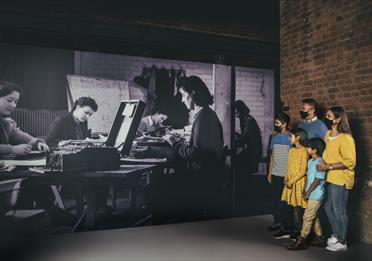 Photograph of Bletchley Park staff in Top Secret