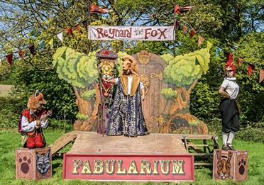 Reynard The Fox on the stage, outdoors setting