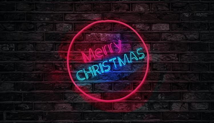 Neon Merry Christmas sign