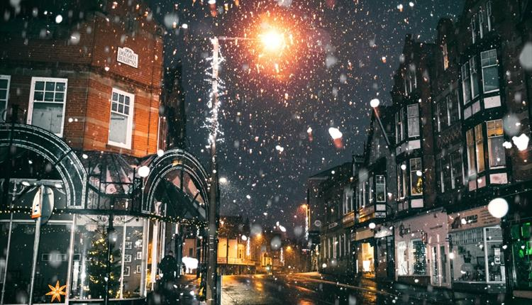 London streets in a snow