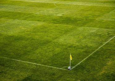 Football pitch from the air