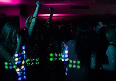 People dancing in a nightclub
