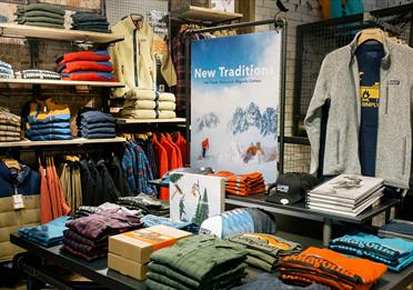 Inside the Patagonia store on King Street