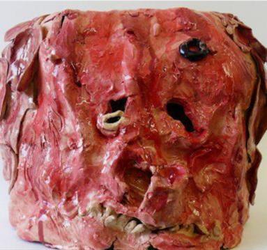 Distorted human head