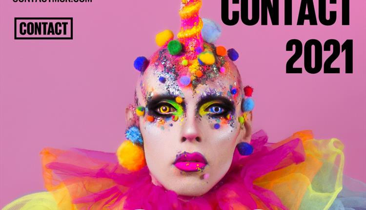 Queer Contact 2021 poster in pink