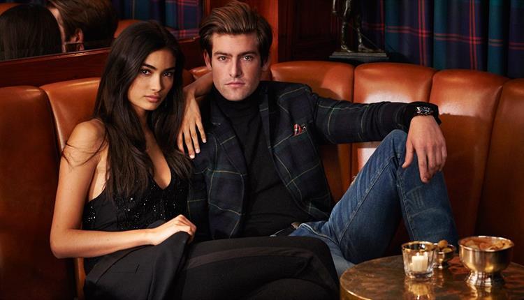 Models wearing Ralph Lauren clothing