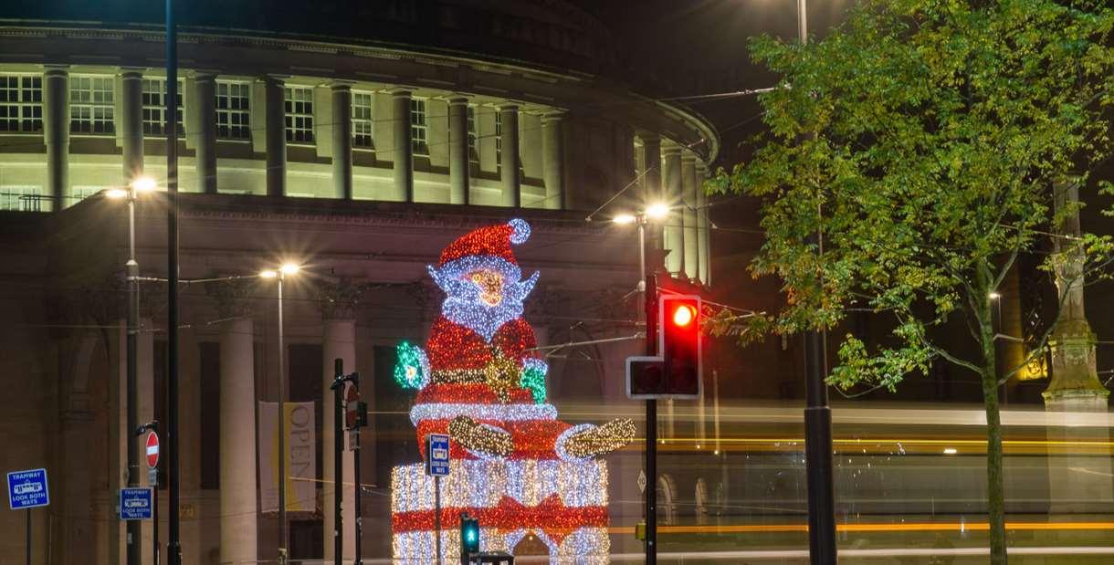 Santa in Manchester City Centre