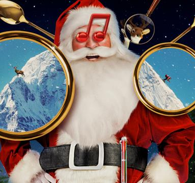 Santa Reindeer Hunt Poster