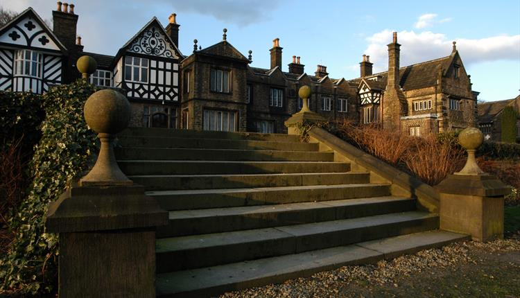 Stairs to Smithills Hall Museum