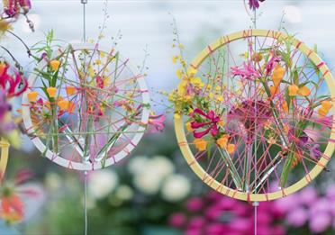 Hanging flower decorations