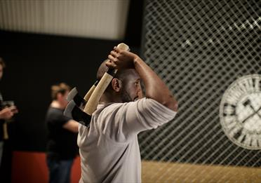 Axe throwing at Whistle Punks Manchester