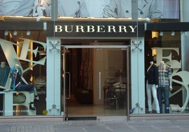 The front of the Burberry store in Manchester.