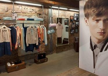 Inside the Fred Perry store.