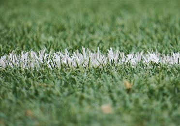 Football pitch up close