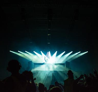 Stage lights during a concert