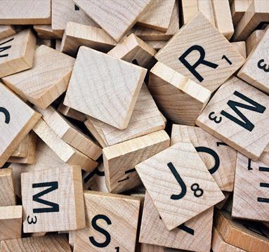 Scrabble letter cards