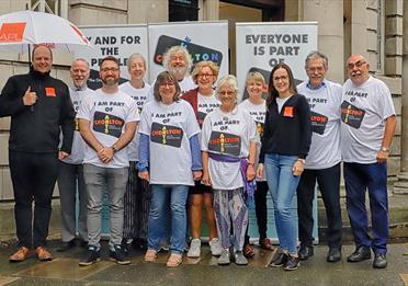 Photo of Chorlton Arts team & sponsors