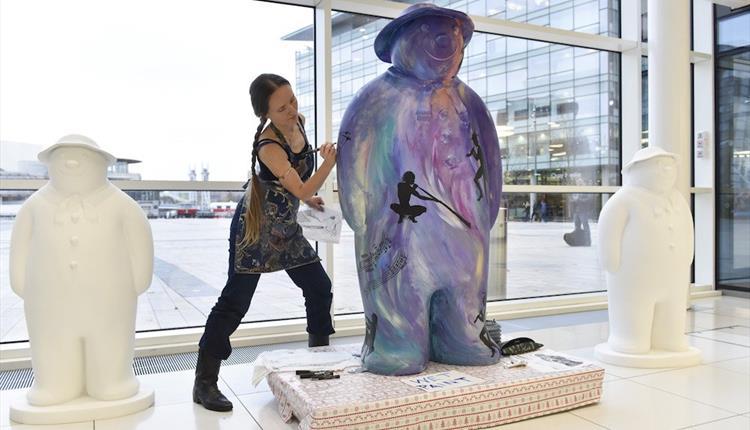 Walking with The Snowman, Festive art trail at MediaCityUK