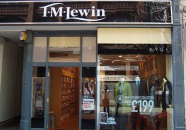 The exterior of T.M.Lewin