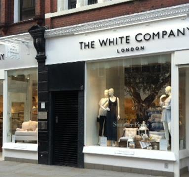 The exterior of The White Company.