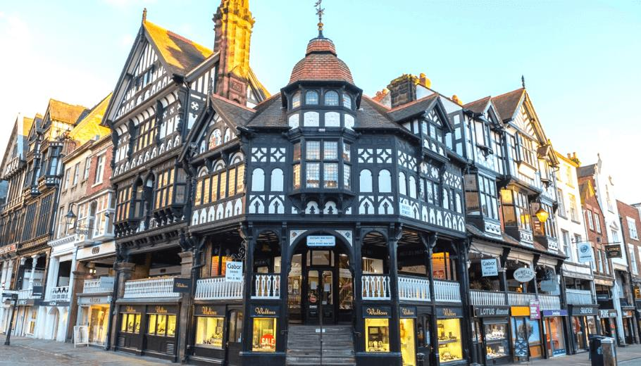 Chester's iconic black and white rows