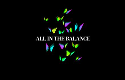 'All in the balance' butterlfy shaped icons in neon colours