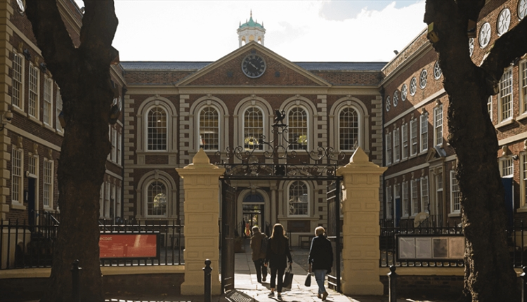 The exterior of the 300 year old Bluecoat Building