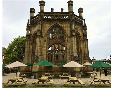 The Exterior of the Bombed Out Church