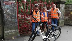 Liverpool cycle Tours at Strawberry Field