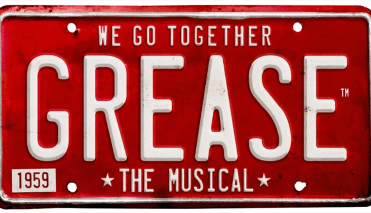 Grease logo in the style of a number plate
