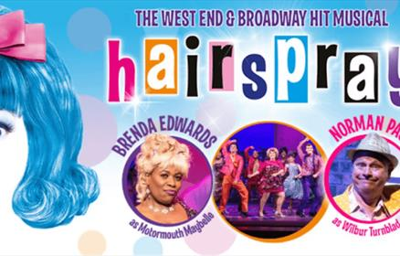 Hairspray poster with cast members.